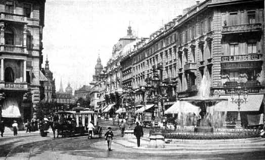 kaiserstrasse 1900 frankfurt am main historic picture. Black Bedroom Furniture Sets. Home Design Ideas