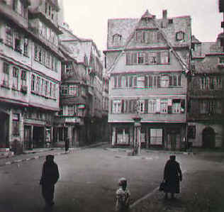 Altstadtwinkel mit Eingang zur Saalgasse (before destruction)